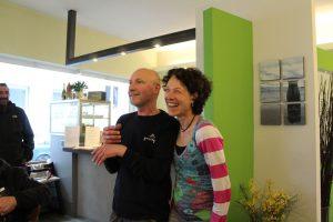 Thomas Bicheler und Astrid Beck in ihrem Laden Pressgut