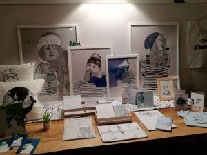 Illustrationen von mooi&fien aus Bremen im Schnoor Eleven