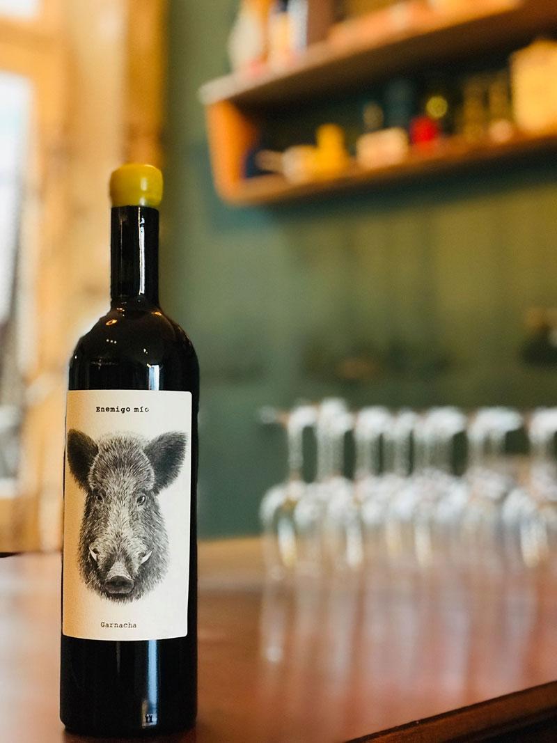 Weinflasche vom Weinkontor Gluck Gluck