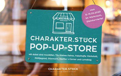 Erster CHARAKTERSTÜCK Pop-up Store in Bremen